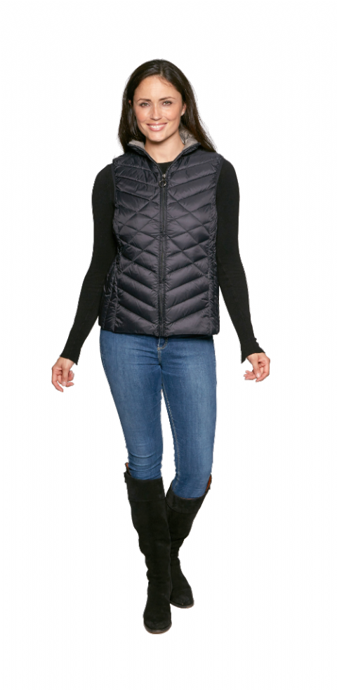 Womens Warm Feather Down  Gilet db424